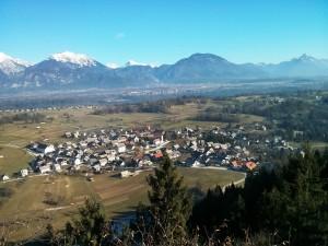 Pogled na Ribno z Ribenske gore